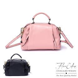 DF Flor Eden - 韓版氣質典雅女款真皮手提肩背包-共2色