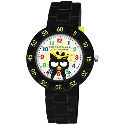 【SANRIO 三麗鷗】 數字轉圈兒童手錶 - Bad Badtz-maru 酷企鵝 34mm 黑色