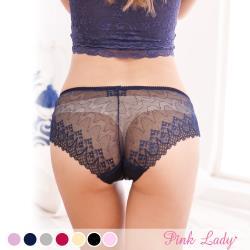 PinkLady 珠光裸絲 無痕蕾絲低腰性感 單件內褲8148
