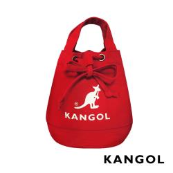KANGOL 韓版玩色系列-帆布斜背水桶包-棗紅 KGC1214