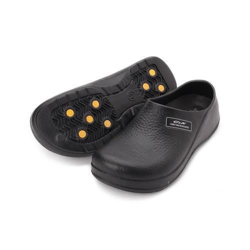 CKEVA包頭廚師鞋黑女鞋鞋全家福