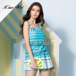 聖手品牌 時尚流行二件式連身裙泳裝 NO.A928608