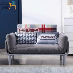文創集 愛諾亞 可拆洗棉滌布沙發/沙發床(側邊展開機能設計)