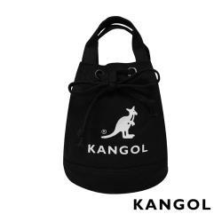 KANGOL 韓版玩色系列-帆布斜背水桶包-黑 KGC1214