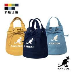 KANGOL 韓版玩色系列-帆布斜背水桶包-多色任選 KGC1214