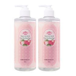 KilaDoll玻尿酸玫瑰保濕化妝水500mlx2入組