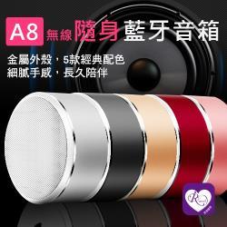 【iRurus 路絲時尚】最新一見傾心A8小巧便利隨身攜帶藍芽音箱/5色 安卓/ iPhone通用(RC0006)