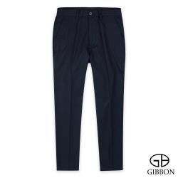 GIBBON 天絲點線紋舒棉彈性休閒褲‧黑藍