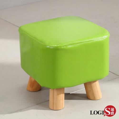 LOGIS 實木皮面椅 四方凳 兒童小凳子 休閒椅凳 沙發矮凳 方凳 小板凳 T04