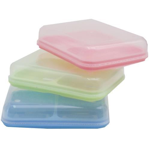 月陽 超值3入_大號透明蓋雙格肥皂盒帶瀝水肥皂盤皂架