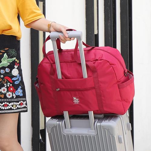 E.City_大容量肩背折疊行李拉桿旅行袋/