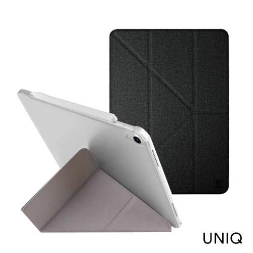 UNIQ Yorker Kanvas 12.9吋支持無線充電多折磁吸保護套(iPad Pro 12.9吋)-黑色