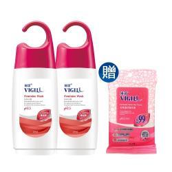 【VIGILL婦潔】蔓越莓 私密沐浴露220ml x兩瓶組(送女性私密處清潔舒緩舒巾1包)