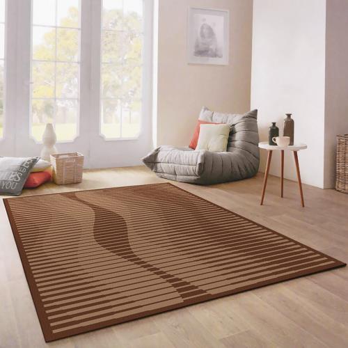范登伯格-西堤 比利時進口簡樸圈毛編織地毯/地墊_170x230cm 曲線