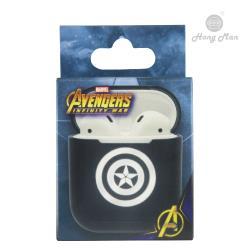 【Hong Man X Marvel】 AirPods硬式保護套 美國隊長 (銀)