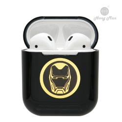 【Hong Man X Marvel】 AirPods硬式保護套 鋼鐵人 (黑)