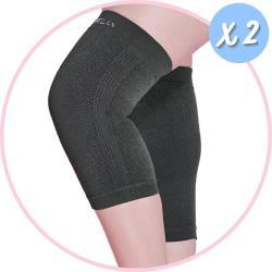 2件組【京美】銀纖維長效護膝 2雙組(買就送優生 超厚型抗菌酒精濕巾80抽/包)