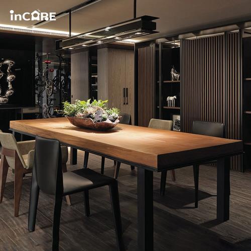 【Incare】原木工業風加厚機能桌(2色任選/160*70*75cm)-大型材積