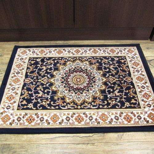 范登伯格-紅寶石歐式新古典風格比利時進口絲質地毯/地墊_50x70cm 宮廷藍