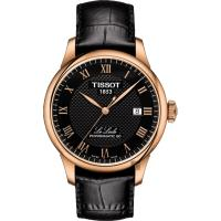 TISSOT 天梭 Le Locle 80小時機械錶-黑x玫塊金框/ 39mm T0064073605300