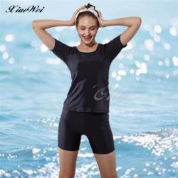 沙麗品牌 時尚流行二件式短袖泳裝 NO.W1101