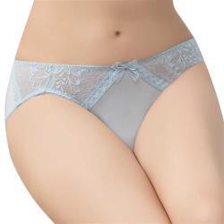 思薇爾 輕沁舒系列M-XL蕾絲低腰三角內褲(夢幻藍)