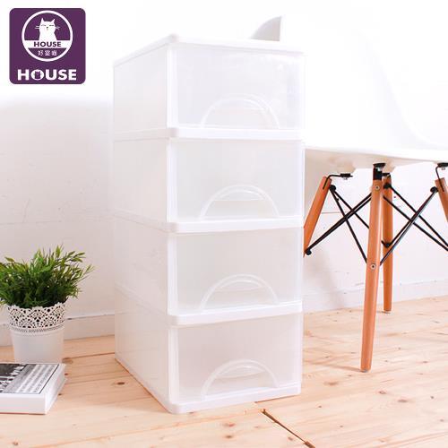 HOUSE-白色小方塊四層收納櫃36L/