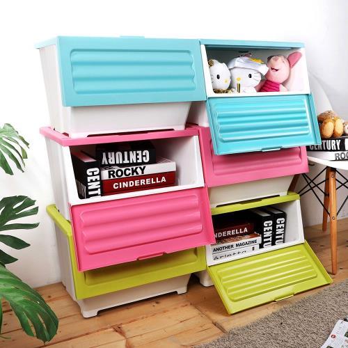HOUSE -下掀式可堆疊整理箱(39L-6入)兩款色