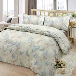 FITNESS  精梳棉雙人四件式兩用被床包組-里葉亭(卡其)