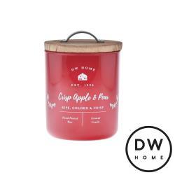 美國 DW Home Candles Farmhouse系列 蘋果脆梨 原木蓋玻璃罐 240g 香氛蠟燭