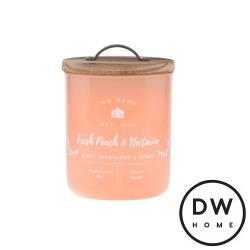 美國 DW Home Candles Farmhouse系列 清新杏桃 原木蓋玻璃罐 240g 香氛蠟燭