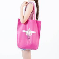 E.City_可折疊圖案式防潑水帶扣環保購物袋收納袋
