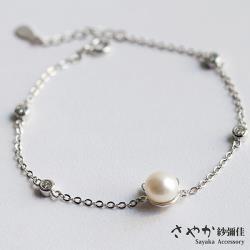 【Sayaka紗彌佳】可愛摺耳貓珍珠手鍊
