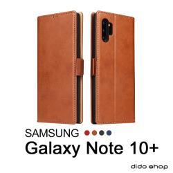 三星 NOTE 10+ (6.8吋) 皮革簡約翻蓋式手機皮套 手機殼(FS153)