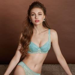 【曼黛瑪璉】Hibra大波內衣  B-G罩杯(湖水藍)