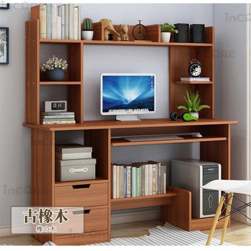 【Incare】收納置物簡約書桌(兩色任選/120x131.5x45cm)