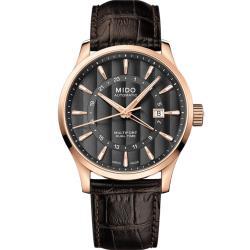 MIDO 美度 Multifort 兩地時區機械錶(M0384293606100)42mm