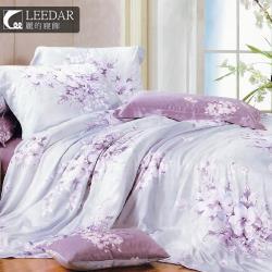 LEEDAR 麗的   愛如潮水  頂級100%天絲單人床包 雙人兩用被床包組