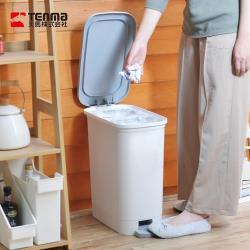日本天馬 dustio分類腳踏抗菌垃圾桶(深型)-20L