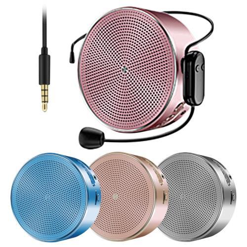 K1 有線/無線UHF麥克風 兩用式隨身教學擴音器/藍牙喇叭