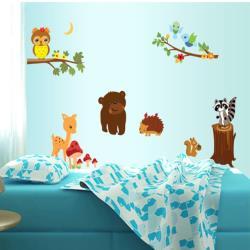 【半島良品】DIY無痕創意牆貼/壁貼-動物森林 AY9089大