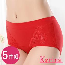 Karina-優美蕾絲中高腰內褲 6件組