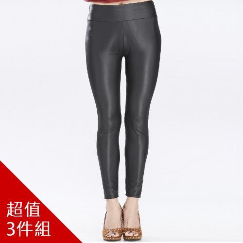 iima超激瘦彈力類羊皮塑型褲-超值組/