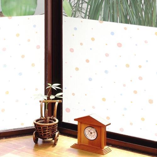 日本MEIWA節能抗UV靜電窗貼 (和風彩球) 92x100公分