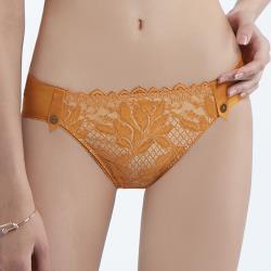 【曼黛瑪璉】雙弧 低腰三角內褲(絲光橙)