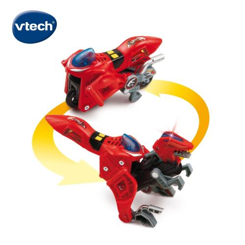 【Vtech】聲光變形恐龍車-迅猛龍-阿庫納/