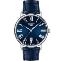 TISSOT 天梭 CARSON PREMIUM經典羅馬紳士腕錶/ 藍/ 40mm/ T1224101604300