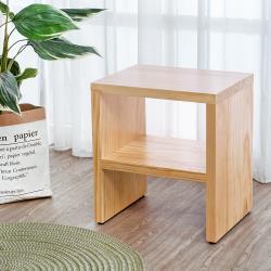 Boden-森林家具 1.4尺全實木椅凳/小矮凳/穿鞋椅/坐式鞋櫃