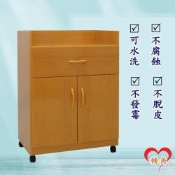 轉角傢俱-塑鋼碗盤櫃 防潮防水防發霉 (寬64深41高88)四色可選 附輪子