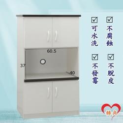 轉角傢俱-塑鋼電器櫃 防潮防水防發霉 (寬66深43高124)二色可選